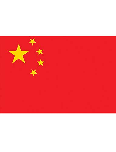 "TrendClub100® Fahne Flagge ""Volksrepublik China People's Republic of China PRC CN"" - 150x90 cm / 90x150cm"