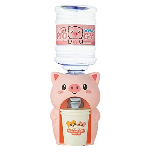 JINGLING Wasserspender Mini Getränkespender Mit Wassertank, Mini Niedlichen Frosch Schweinchen Wasserspender Mit Wassereimer Trinken Für Home Office Student Wohnheim Kinder Geschenk