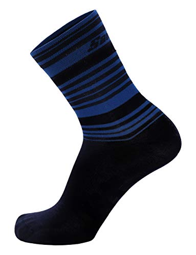 Santini Primaloft Medium Chaussettes Homme, Bleu Marine, XS