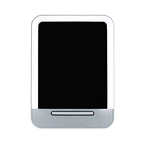 LBPLWY Miroir De Maquillage De Mode LED Miroir De Charge USB Miroir Cosmétique Portatif Miroir De Poche Compact-Silver