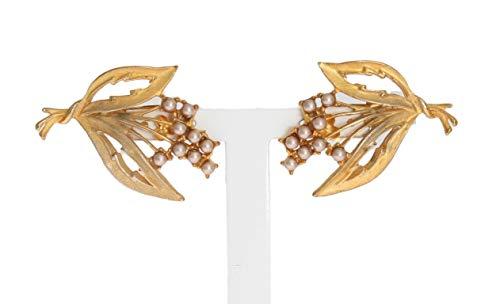 Dolce & - Gabbana – Pendientes de clip con hojas de flores doradas
