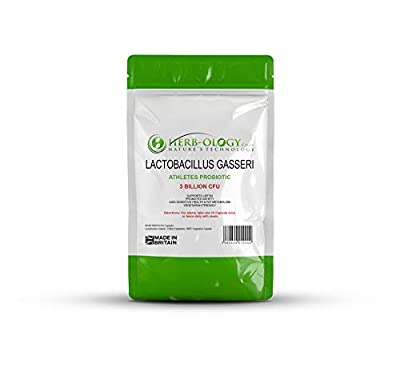 Lactobacillus Gasseri Athletes Probiotics for Adults — 60 Capsules | Vegetarian Supplements for Bloating Relief and Weight Loss | Aids Digestive Health, Restores Gut Microbiome | Enhanced by Exercise