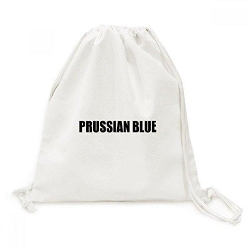 DIYthinker Couleur Bleu de Prusse Nom Black Canvas Drawstring Backpack Voyage Sacs