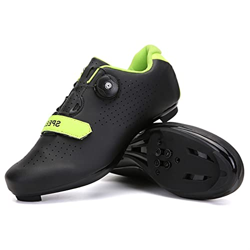 WPW Mens MTB Road Bike Cycling Shoes, Compatible with Peloton SPD Delta Indoor Racing Bikes Shoes with Rotating Buckle Quick Lock Cleat Outdoor Bicycle Shoe (Color : C ROAD, Size : UK-12/EU47/US-13)