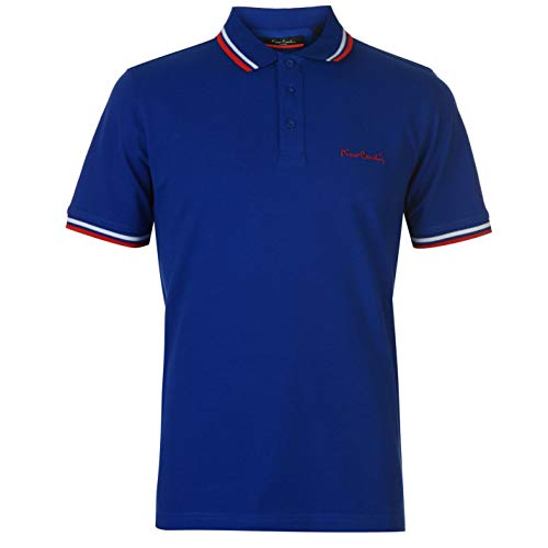 Pierre Cardin Herren-Polohemd mit Kontrast-Kragen, Kurzarm Gr. L, königsblau
