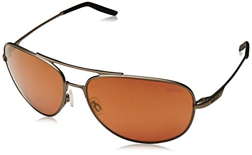 Revo Windspeed RE 3087 Polarized Aviator Sunglasses,Gun/Open Road,66 mm