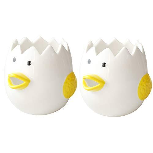 SXYB Kreativer Eierabscheider, automatischer keramischer Eierfilter, EIN Werkzeug, das zum Backen, süße Kükenform, unregelmäßige Oberseite zum einfachen Eibrüchen verwendet Werden kann