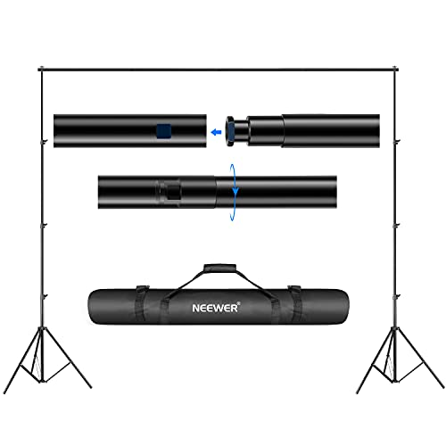 Neewer® Hintergrund Unterstützungssystem 2.6M x 3M/8.5ft x 10ft Set mit Tragetasche für Muslins Hintergrund, Papier and Canvas