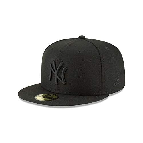 New Era 59Fifty Hat MLB Basic New York Yankees Black/Black Fitted Baseball Cap (7 3/8)