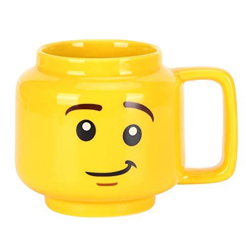 Les-Theresa Keramikbecher Gelb Cartoon Wasserbecher 300ml Kaffee Milch Teebecher Geschenk für Home Office