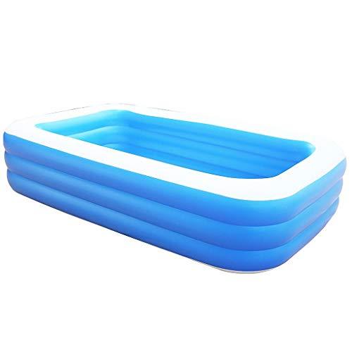 DAND Piscinas hinchables para adultos y niños, grandes piscinas rectangulares salón piscina piscina piscina centro de natación para verano al aire libre jardín familia, 305*180*68cm 3 layers