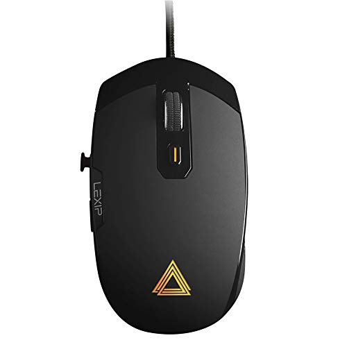 Lexip Pu94 Gaming Mouse-3D Wired and RGB Gamer Mouse-Special 3D Environments and Design Software-2 Joysticks, 6 Buttons and 12 Programmable Directions - Ultimate Glide with 6 Ceramic Feet