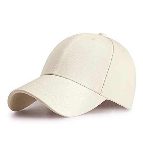 HGDGears Cotone Cappello da Baseball Snapback di Hip Hop Cappello Piatto - Cappello Uomo Unisex Berretto da Baseball (Beige)…