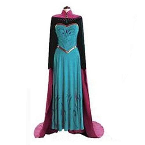 LOTOTLOMCA Queen ELSA ELSA Krönungskleid Für Erwachsene Cosplay Cosplay Kostüm, Polyestergewebe, Leicht Und Bequem, Einschließlich Kleid + Umhang,L