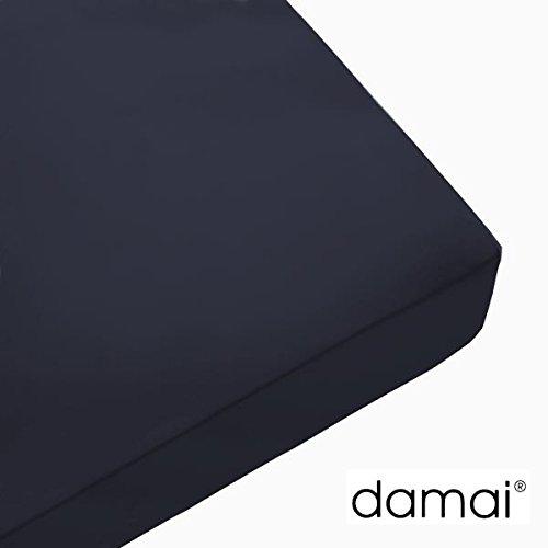 Damai Damai Nightkiss Topper hoeslaken donkerblauw - 9-15cm met elastiek - 180 x 220 cm 100% katoen