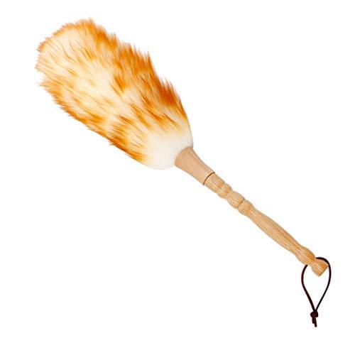 Guangcailun Künstliche Feather Duster mit Massivholzgriff Hang Strap, bequemen Griff Duster für Reinigung