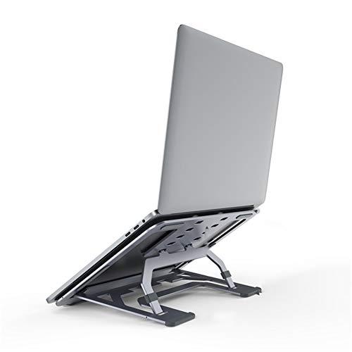 HIZQ Soporte De Portátil Ventilado Aluminio Soporte para Laptop Portátil Plegable Y Ajustable Soporte Ordenadores Soporte Portátil 6 Ángulos para Todos Los Portátiles 11-17 Pulgadas