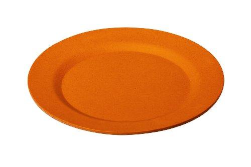 Orange bambou Couleur terre cuite 25 cm Ronde à plaques (Lot de 4)