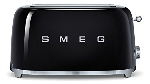 SMEG TSF02BLEU | Broodrooster 4 plakjes 50's Style | Kleur : zwart