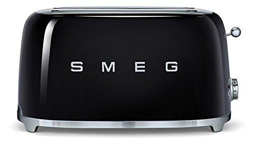 SMEG Tostador TSF02BLEU, 1500 W, Acero, Negro