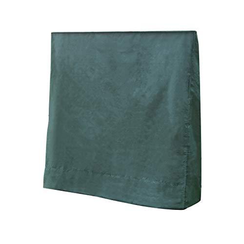 zoomyo Schutzhülle für Tischtennisplatte, die wetterfeste Abdeckung schützt Jede handelsübliche Ping Pong Platte im zusammengeklappten Zustand vor Schmutz und Nässe, grün