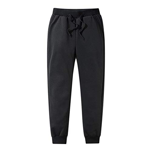 Fanville Herren Joggerhose Dicke Fleece Thermohose Outdoor Winter Warme Freizeithose -30 ° C Man Thermals Fleecehose Verdickte Fleece gefütterte Freizeitsporthose Winter Herbsthose