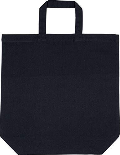 Kimood Sac shopping en coton - Noir, One Size, Homme