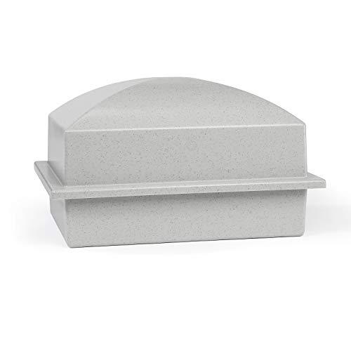 Crowne Vault Single Urn Vault for Ground Burial | Holds One Adult Cremation Urn for Human Ashes | Regent (Granite Grey)