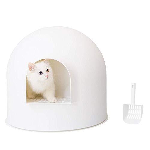 pidan 猫トイレ 本体 猫 トイレ ドーム 大型 スコップ付き 猫のトイレ 臭いと砂飛び散りから解放 54.8×52×49.25cm