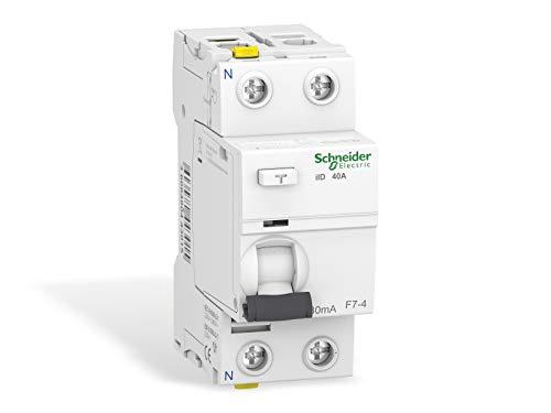 Schneider A9Z21240 Interruttore differenziale iID, 2P, 40A, 30mA, Tipo A, Bianco