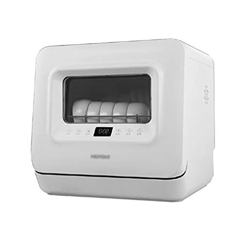 Zheng Hui Shop Lavavajillas Completamente automático Mini lavavajillas Independiente 5 Modos de Lavado, Lavado con Doble rociador de 360 ° hacia Arriba y hacia Abajo, horario de Citas