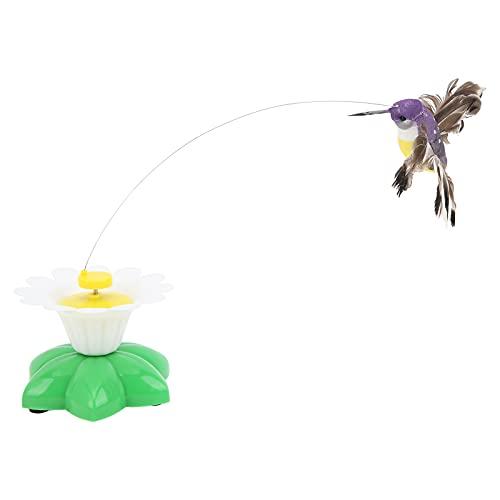 Ranvo Katzenspielzeug, elektrisches fliegendes Vogel-Katzenspielzeug, das Sich dreht, entlastet die Angst von Kleintieren