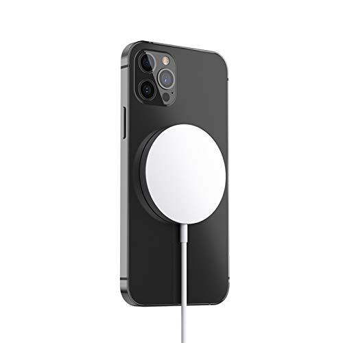 ALLWIN Cargador Inalámbrico, Cargador Inalámbrico Magnético QI De 15 W, Adecuado para iPhone 12 Mini 12 Pro MAX Base De Carga Inalámbrica De Inducción Rápida Magsafe con Adaptador QC3.0