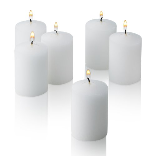 Light In The Dark White Votive Candles - Box of 36 Unscented Bulk Candles - 15 Hour Burn Time - for Weddings, Restaurants, Parties, Spa and Decorations.