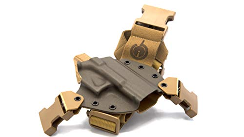 GunfightersINC Kenai Chest Holster for a Glock 17/19/22/23/31/32, Fits All Gen's, MOS Open, Left Hand, Mas/Grey-Coyote Tan