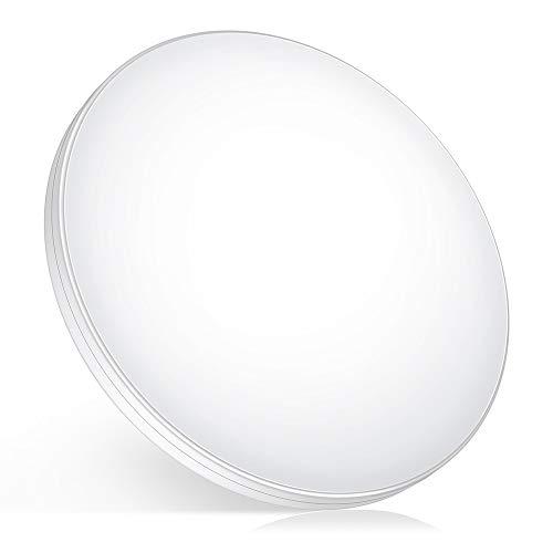 HOREVO Lámpara de Techo con Sensor de Movimiento de Radar, 12W 1200LM Luz de techo empotrada de ahorro de energía Cool White 6500K para Escaleras, Pasillo, Balcón, Garaje