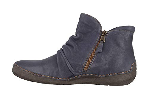 Josef Seibel Damen Stiefeletten Fergey 24, Frauen Klassische Stiefelette, Woman Freizeit Stiefel Boot halbstiefel Bootie,Blau,39 EU / 5.5 UK