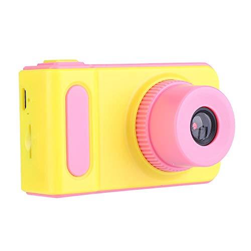 Kindercamera, 2 inch 1080P HD digitale camera, cartoon speelgoedcamera, ingebouwde 4 casual games, gemaakt van milieuvriendelijk, niet-giftig materiaal, eenvoudige bediening(roze)