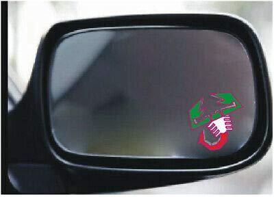 Abarth Skorpion Aufkleber X2 in Italien Flaggenfarben für Fiat 500 595 Außenspiegel Nummernschild
