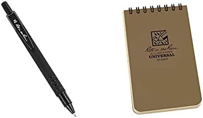 Rite in the Rain Weatherproof Top Spiral Notebook All Weather Pen Pack 3 x 5 Tan Cover Universal product image
