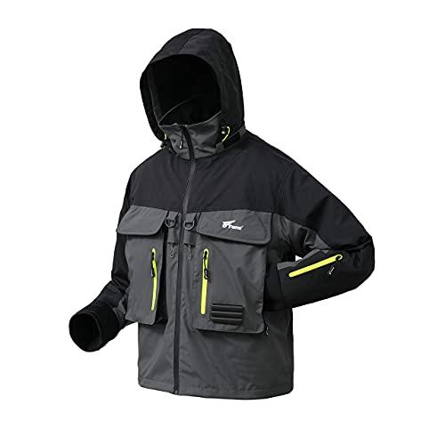 8 Fans Wading Jacket,100% Waterproof Breathable Mens Fly Fishing Jacket For Fishing Hiking Kayaking...