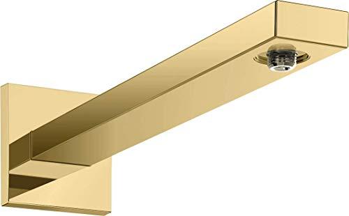 hansgrohe 27694990 - Brazo de ducha (cuadrado, 38,9 cm), color dorado