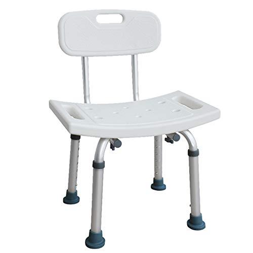 Bath Chair Shower Stool Non-slip Shower Seat, with Armrests Aluminum Alloy Bath Chair Bathroom Shower Stool Bath Stool, dor the Elderly, Injured, Disabled, Pregnant Women Bathroom Wheelchair Aids Adju