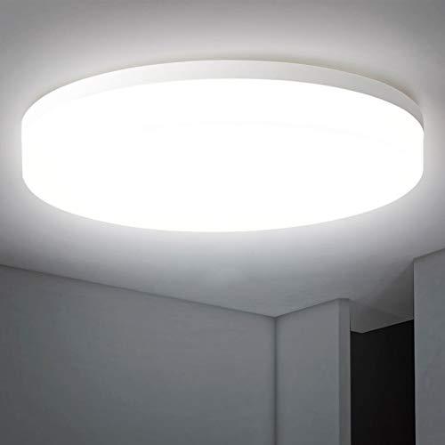 LED Deckenleuchte Rund 24W, Oraymin 2400LM IP54 Wasserfest Badlampe, 4000K Neutralweisse LED Deckenlampe für Balkon,Wohnzimmer,Schlafzimmer,Flur, Küche,160 ° Abstrahlwinkel,ø27.8CM