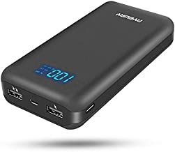 Ayeway Battery Pack 5V 26800mAh Portable Charger Power Bank with Dual outlets & LCD Display,External Battery Phone Charger Compatible with iPhone,Samsung,Smartphone and More.(USB C for Input ONLY)
