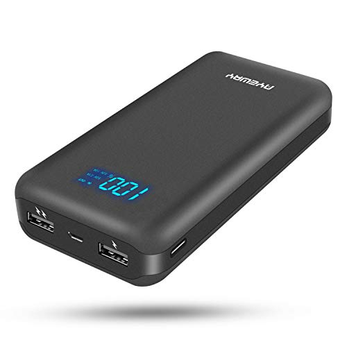 AYEWAY Power bank 26800mah portable charger with dual ports output,phone battery backup charger portable phone charger with visible LCD Screen,external charger for iPhone,Samsung Galaxy,ipad and More.