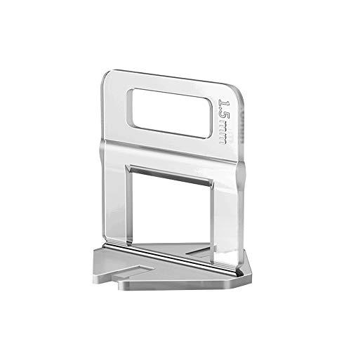 Sistema de nivelación Azulejo Niveles espaciadores clips Cuñas baldosas de corrección Nivelador Baños Dormitorios Paredes Accesorios Tejas Nivelación Plano Herramientas (1.5mm)