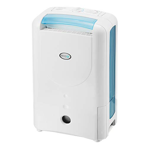 EcoAir DD1 Simple Blue Desiccant Dehumidifier| Rotary Control | 7 Litre/Day | Quiet 34dBA | Anti Bacteria Silver Filter | Laundry | 6Kg | Home Garage Basement Boat | 2Y Warranty