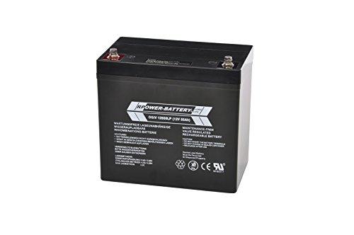 12V 55Ah RPower AGM Batterie / Bleiakku USV Akku Notstrom Notlicht Bleibatterie