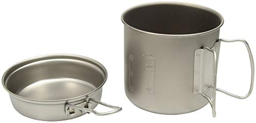 Snow Peak Trek 900 Titanium Cookset, SCS-008T, Japanese Titanium, Ultralight and Compact for Backpacking and Camping, Made in Japan, Lifetime Product Guarantee